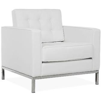 Wellindal Mies Sofa Armchair 1 Seater White Leatherette  Florence Knoll