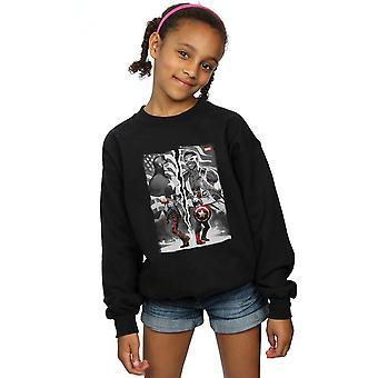 Marvel Girls Falcon And Captain America Split Sweatshirt