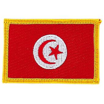 Patch Ecusson Brode Bandiera Tunisia Bandiera Thermocollant Insigne Blason