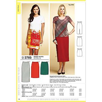 Skirts  Xs  S  M  L  Xl Pattern K3765