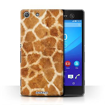 STUFF4 Case/Cover for Sony Xperia M5/Giraffe/Animal Fur Pattern