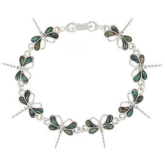 Abalone Paua Muschel grüne Libelle Armband