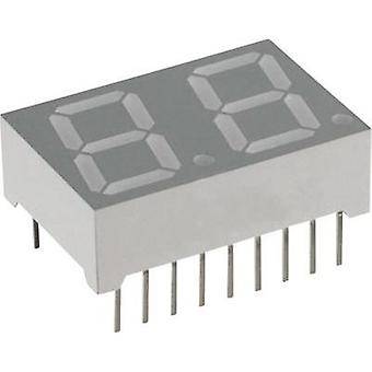 Seven-segment display Blue 14.22 mm 3.8 V No. of digits: 2 Lite-On