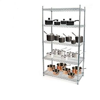 Wire Chrome Shelving Kit
