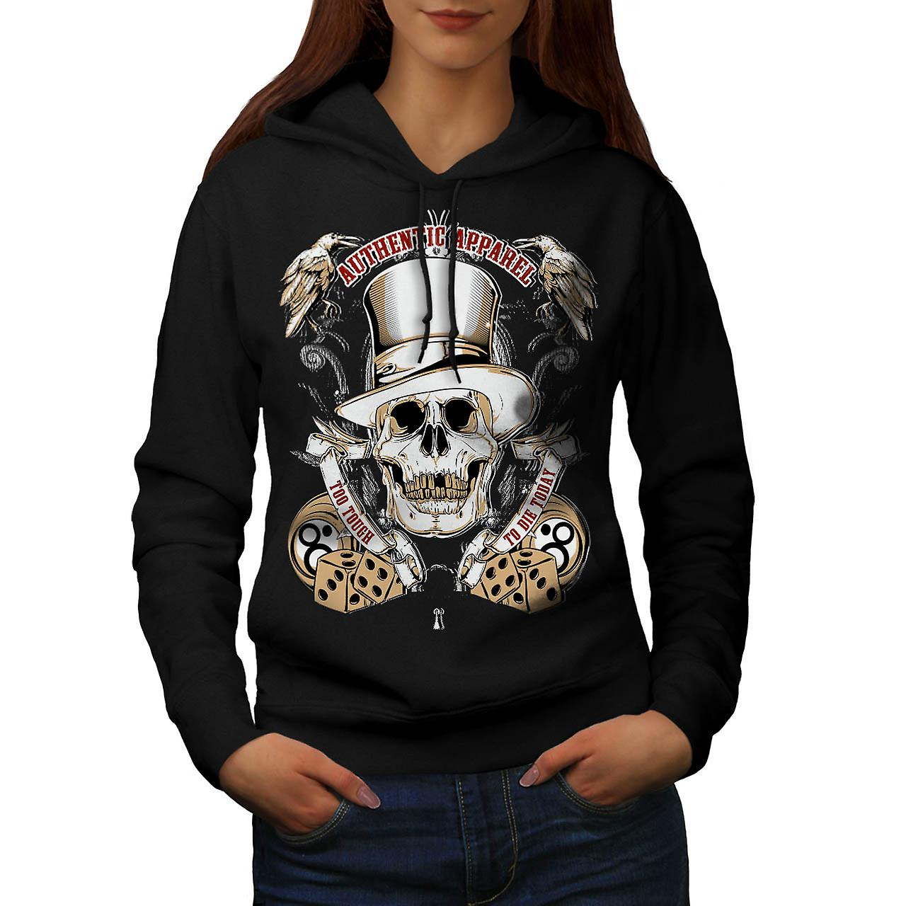 Authentic Dead Casino Game Head Women Black Hoodie | Wellcoda