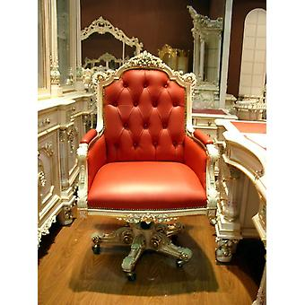 baroque armchair carved antique style  rococo Vp9929