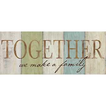 Familjen Sentiment tecken II affisch Skriv av Cynthia Coulter