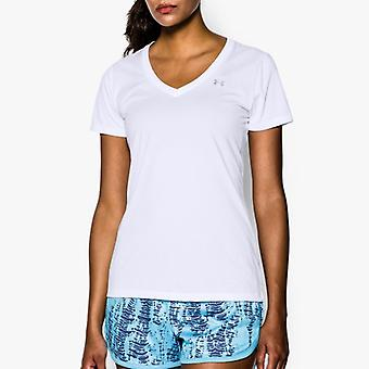 Under Armour T-Shirt tech V-neck white ladies 1255839