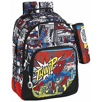 Safta Day Pack Doble Adaptable Carro Spiderman Graphic Art