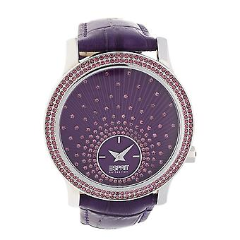 ESPRIT collection ladies watch wristwatch Anatole violet leather EL101872F03