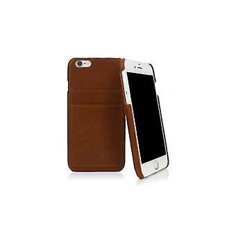 Caseual Leather back For iPhone 6/6S-BROWN