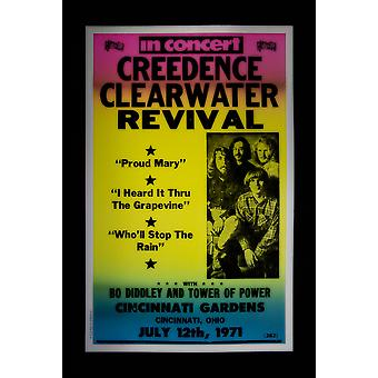 Creedance Clearwater Revival Retro Concert Poster