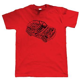 Klassiska Cooper detalj, Mens bil T-Shirt