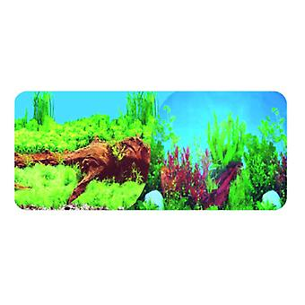 Wuapu Double Aquarium Poster 30Cm Plants (Fish , Decoration , Backgrounds)
