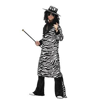 Pimp Daddy costume zebra redneck party pimp costume