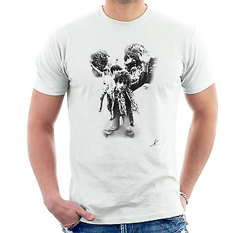 Pink Floyd Gates Of Dawn Cover Outtake Black And White Men's T-Shirt