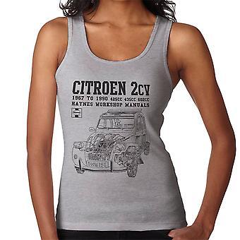 Haynes Owners Workshop Manual Citroen 2CV Black Women's Vest