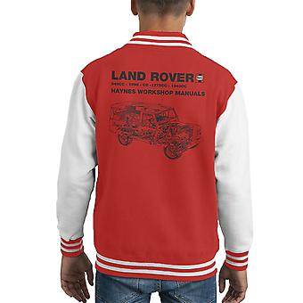 Haynes Workshop Manual Land Rover Black Kid's Varsity Jacket