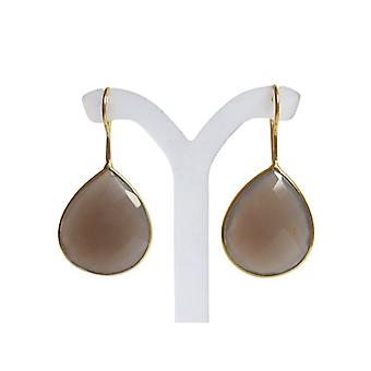 Moonstone earring gold plated opulent gold earrings with Moonstone