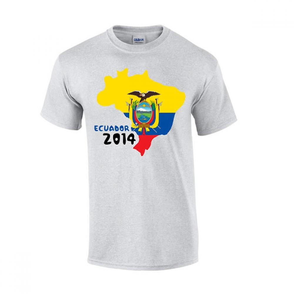 Ecuador 2014 Country Flag t-shirt (grigio)