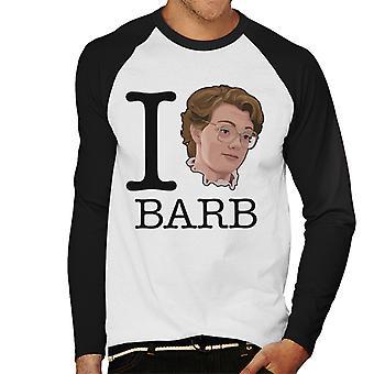 Stranger Things I Love Barb Men's Baseball Long Sleeved T-Shirt
