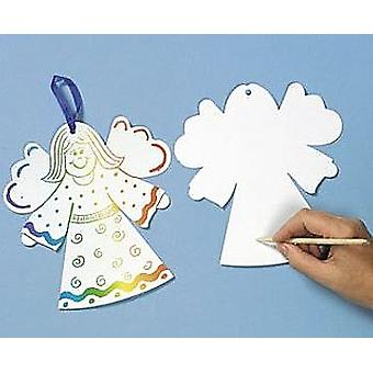 24 Magic Scratch Giant Christmas Angels for 12 Kids