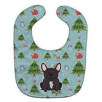 Carolines Treasures  BB4669BIB Christmas French Bulldog Brindle Baby Bib