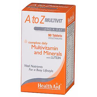 Health Aid A to Z Multivit,  90 Tablets
