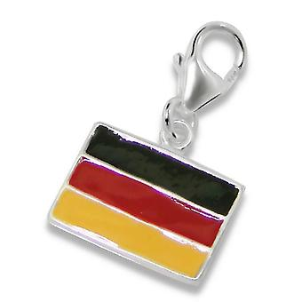 Germany Flag - 925 Sterling Silver Charms with Lobster