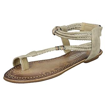 Ladies Spot On Flat Summer Sandals
