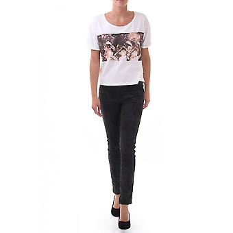Maison Scotch Womens Girl Photo Print Boxy Fit
