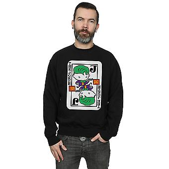 DC Comics Men's Chibi Joker Playing Card Sweatshirt