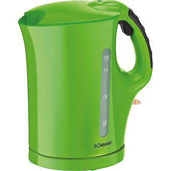 Bomann Wasserkocher 1,7 Liter WK 5011 grün