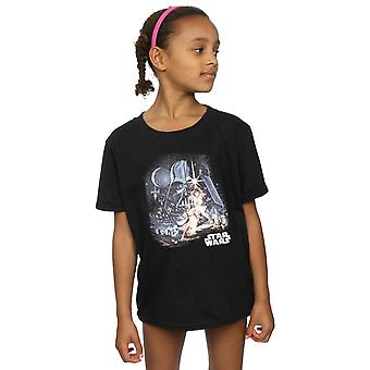 Star Wars Girls Retro Montage T-Shirt