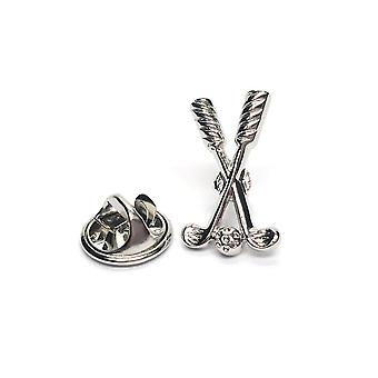 Golfclubs & bal tinnen Lapel pins Badge