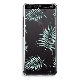 Huawei P10 Transparent Cover (Soft) - Simple leaves