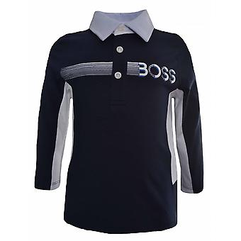Hugo Boss Kids Hugo Boss Infants Navy Blue Long Sleeved Polo Shirt