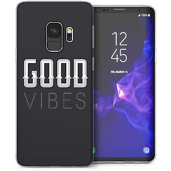 Samsung Galaxy S9 Good Vibes TPU Gel Case-zwart