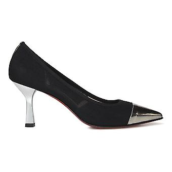 Franco Colli ladies FC2422Black black fabric pumps