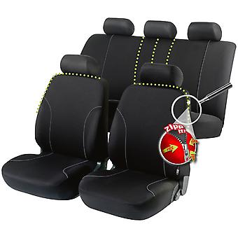 Allessandro car seat cover Zipp-It -, Black For Ford FIESTA 1976 to 1983