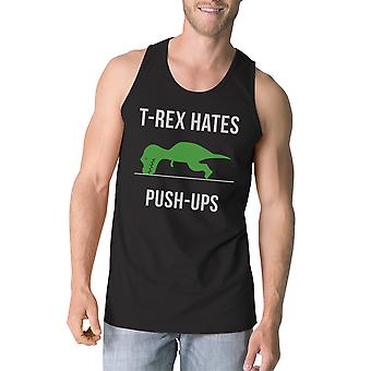 T-Rex Push Ups Mens Black Workout Tanks Funny Gift Sleeveless Top For Him