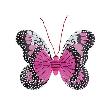 Boland Butterfly Wings Pink and Black Children Fairy Wings Fancy Dress Accessory