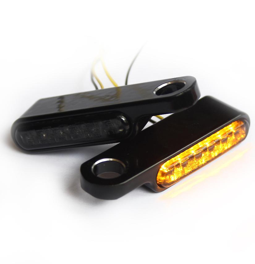 Indicateur LED de fer optique moto + Winker pour guidon