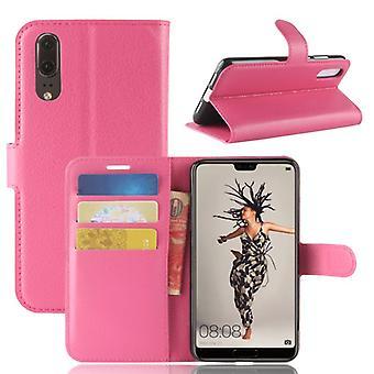 Карман бумажник премиум Pink для Huawei P20 защиты рукавом чехол сумка новые аксессуары