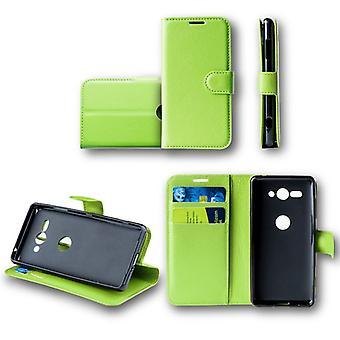 Für Samsung Galaxy A6 Plus A605 2018 Tasche Wallet Premium Grün Schutz Hülle Case Cover Etui Neu Zubehör