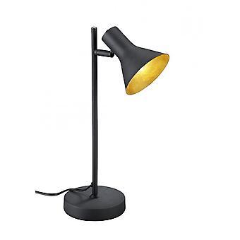 الثلاثي إضاءة مصباح طاولة معدنية سوداء كلاسيك نينا