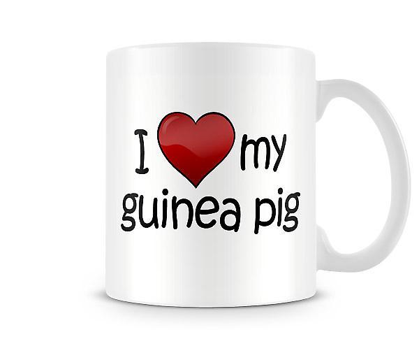 J'aime mon Guinée Pig imprimé tasse