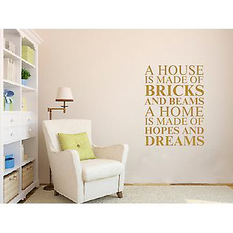 A house is made of Wall Art Sticker - Gold
