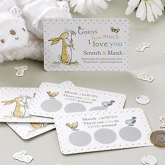 Guess How Much I Love you Scratch Card Game Baby Shower Christening 10 Cards