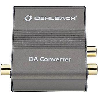Oehlbach Audio/RCA convertidor DA convertidor [Toslink, RCA Digital - RCA]